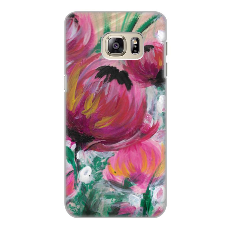 Printio Чехол для Samsung Galaxy S6 Edge, объёмная печать Полевые цветы printio чехол для samsung galaxy s6 edge объёмная печать свинка
