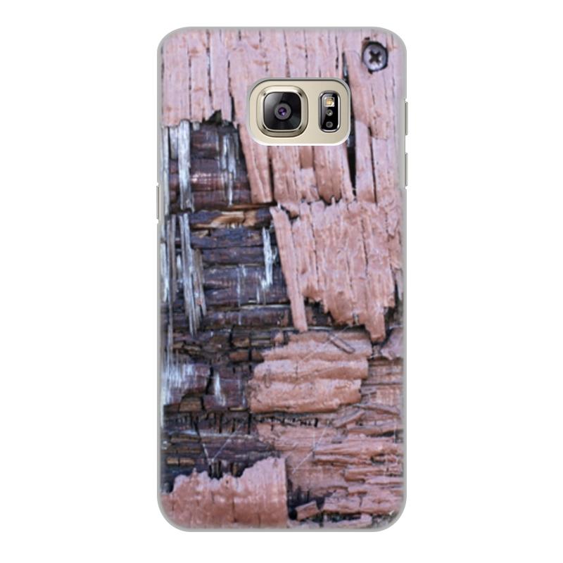 Printio Чехол для Samsung Galaxy S6 Edge, объёмная печать Деревянный