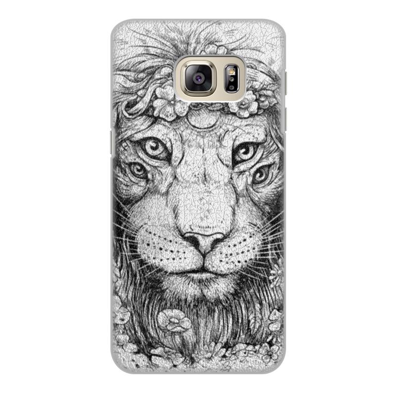 Printio Чехол для Samsung Galaxy S6 Edge, объёмная печать Царь природы