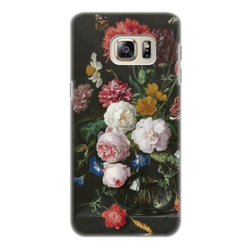 Printio Чехол для Samsung Galaxy S6 Edge, объёмная печать Цветочный букет в стеклянной вазе (ян де хем)