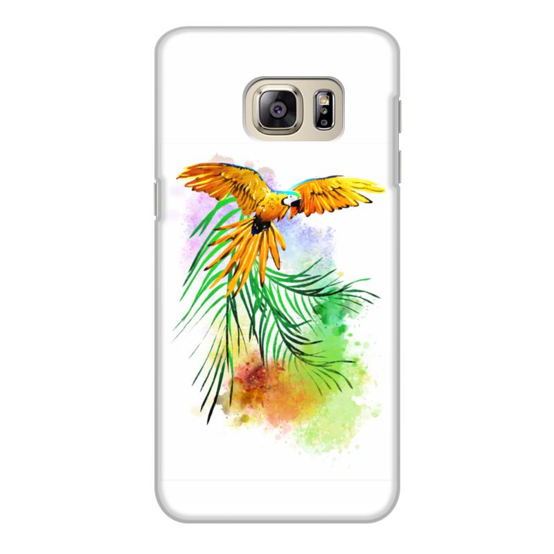 Фото - Printio Чехол для Samsung Galaxy S6 Edge, объёмная печать Попугай на ветке. printio чехол для samsung galaxy s6 edge объёмная печать клубничное настроение