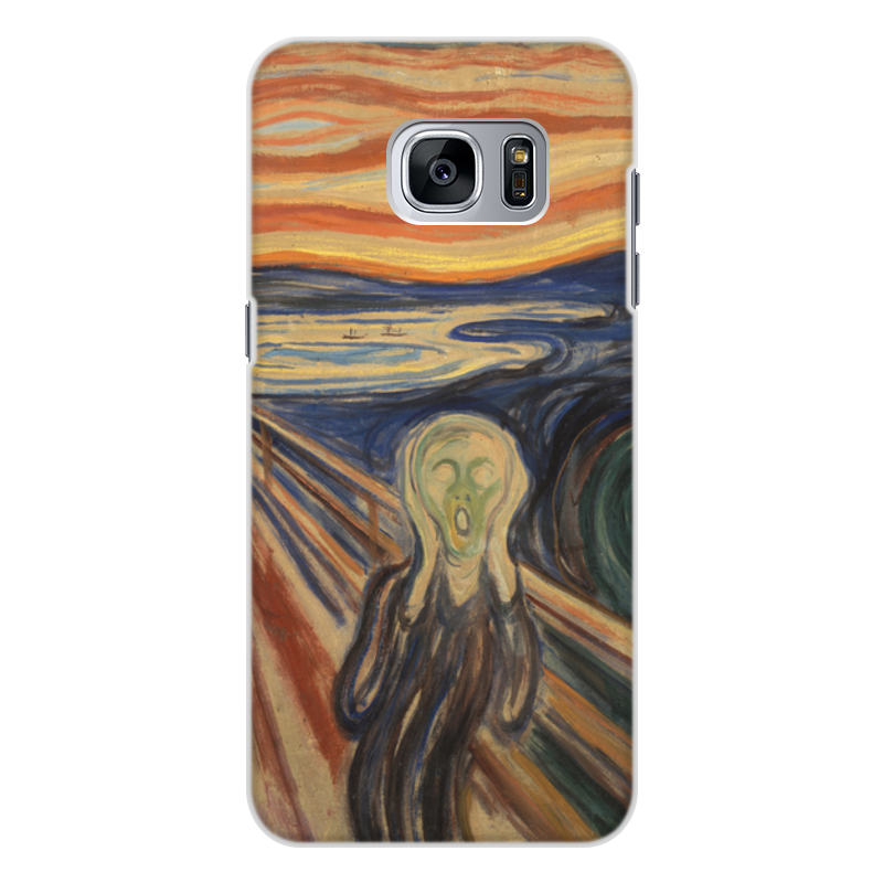 Printio Чехол для Samsung Galaxy S7, объёмная печать Крик (эдвард мунк) printio чехол для iphone 7 объёмная печать крик эдвард мунк