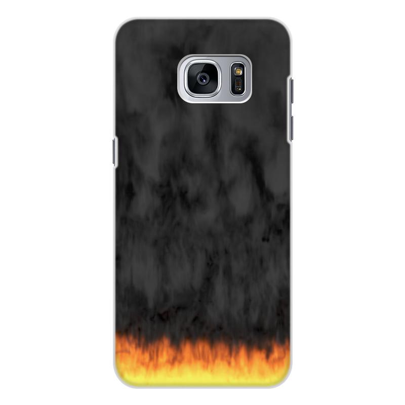 Printio Чехол для Samsung Galaxy S7, объёмная печать Пламя и дым printio чехол для samsung galaxy s8 plus объёмная печать пламя и дым