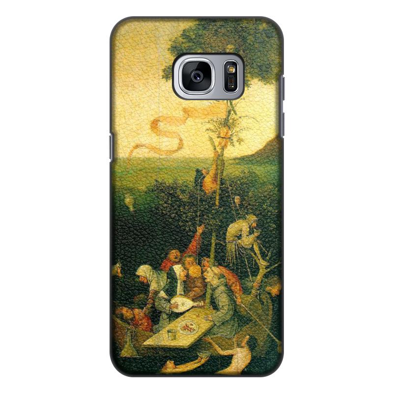 Фото - Printio Чехол для Samsung Galaxy S7, объёмная печать Корабль дураков (картина босха) printio чехол для samsung galaxy s8 plus объёмная печать ад ад и потоп створки алтаря иеронима босха