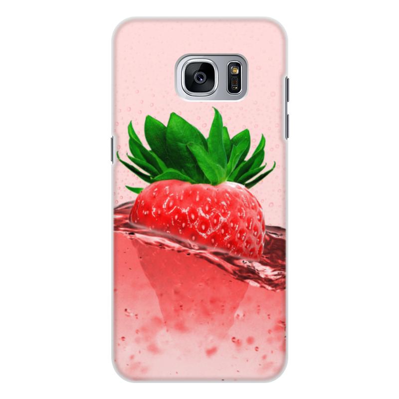 Фото - Printio Чехол для Samsung Galaxy S7, объёмная печать Клубничное настроение printio чехол для samsung galaxy s6 edge объёмная печать клубничное настроение