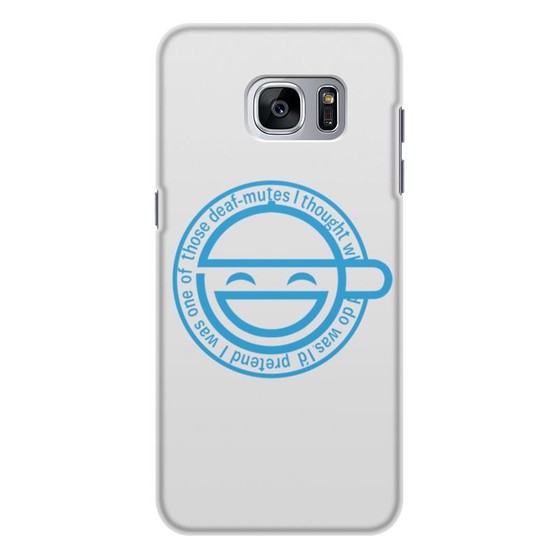 Printio Чехол для Samsung Galaxy S7, объёмная печать Смеющийся человек