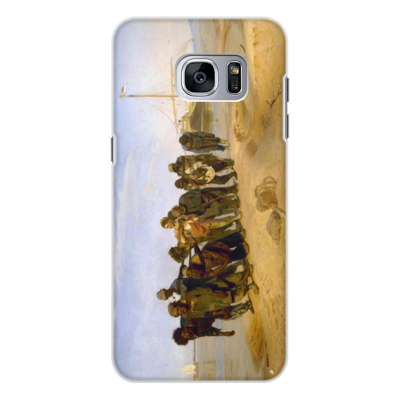 Printio Чехол для Samsung Galaxy S7, объёмная печать Бурлаки на волге (картина ильи репина)