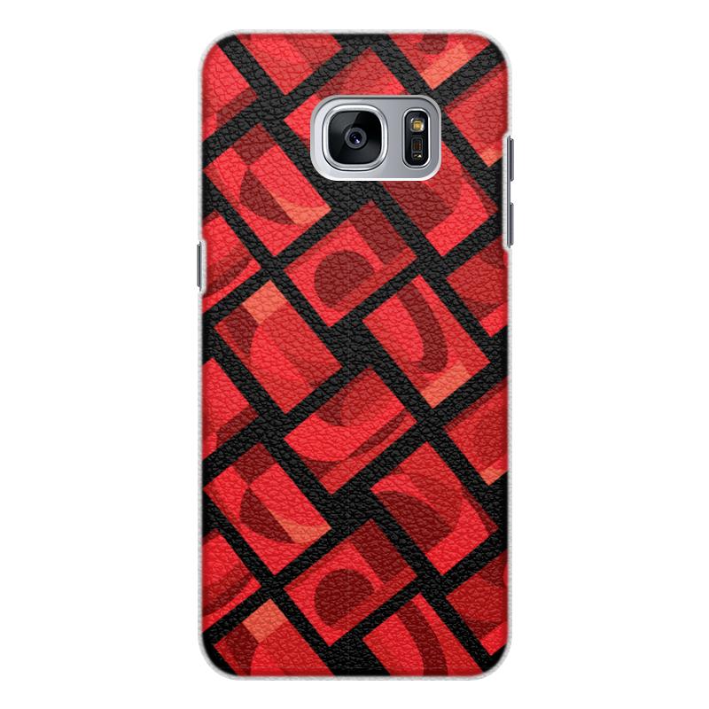 Printio Чехол для Samsung Galaxy S7, объёмная печать Красная абстракция