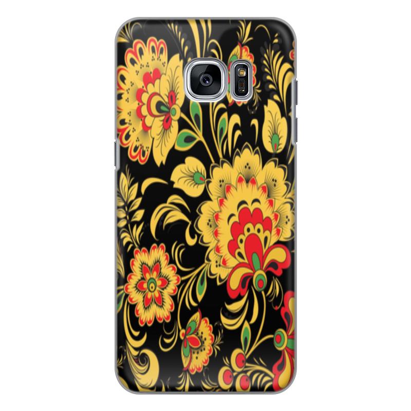 Printio Чехол для Samsung Galaxy S7, объёмная печать Хохлома