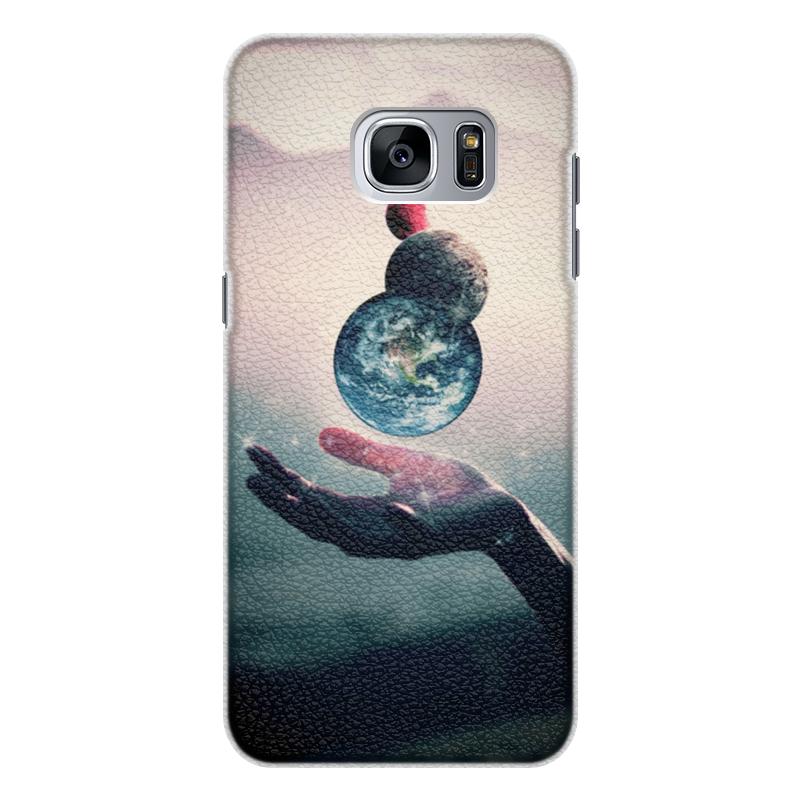 Printio Чехол для Samsung Galaxy S7, объёмная печать Планеты