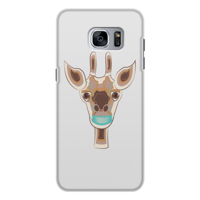 Printio Чехол для Samsung Galaxy S7 Edge, объёмная печать жираф в маске