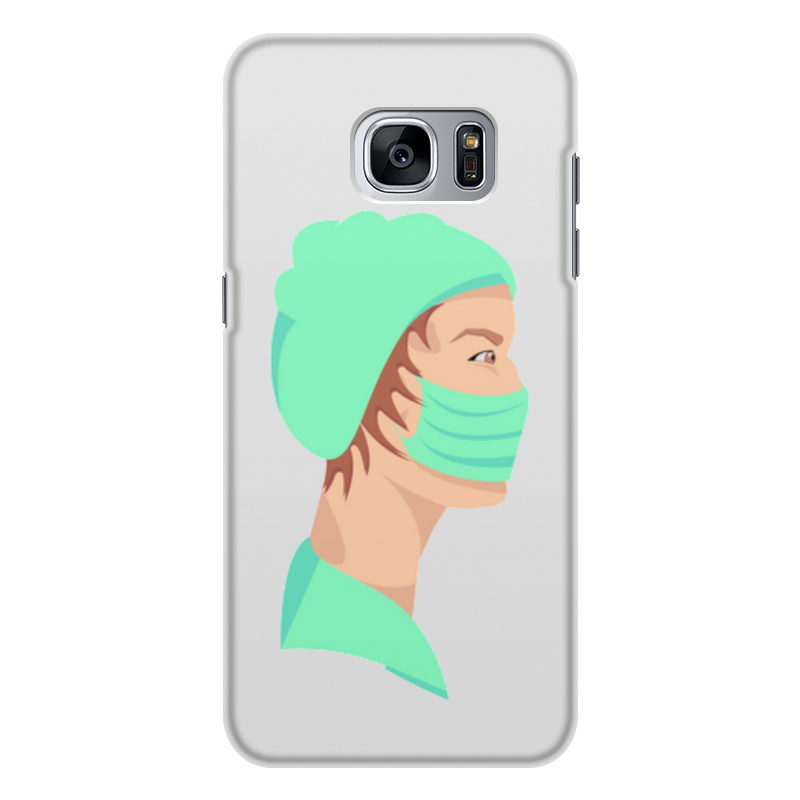 Printio Чехол для Samsung Galaxy S7 Edge, объёмная печать медицинский работник в маске
