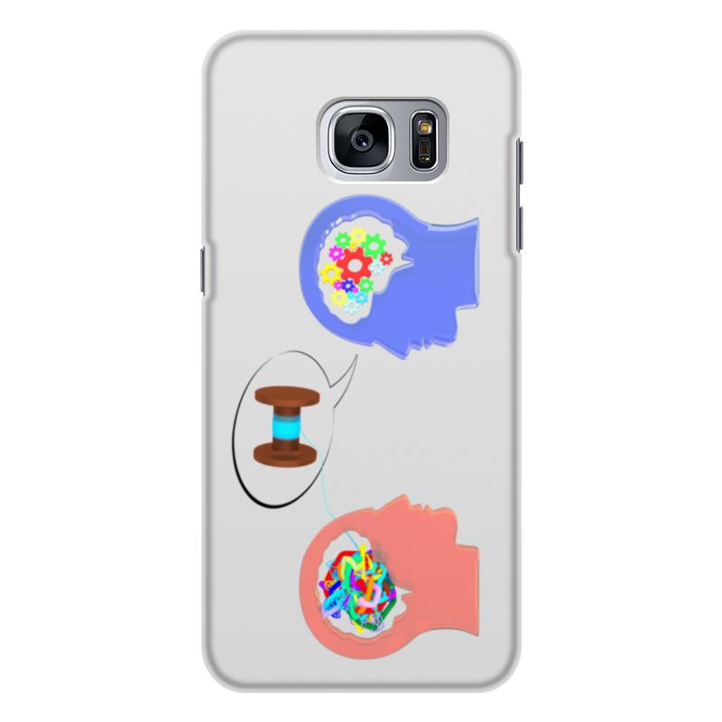 Printio Чехол для Samsung Galaxy S7 Edge, объёмная печать Психолог