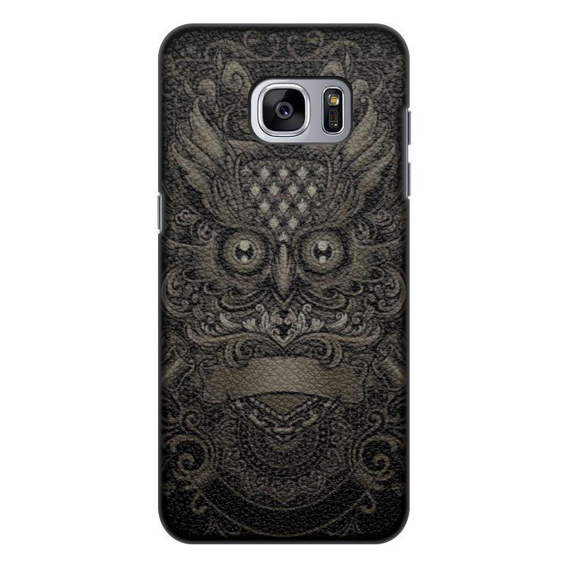 Printio Чехол для Samsung Galaxy S7 Edge, объёмная печать Антикварная сова