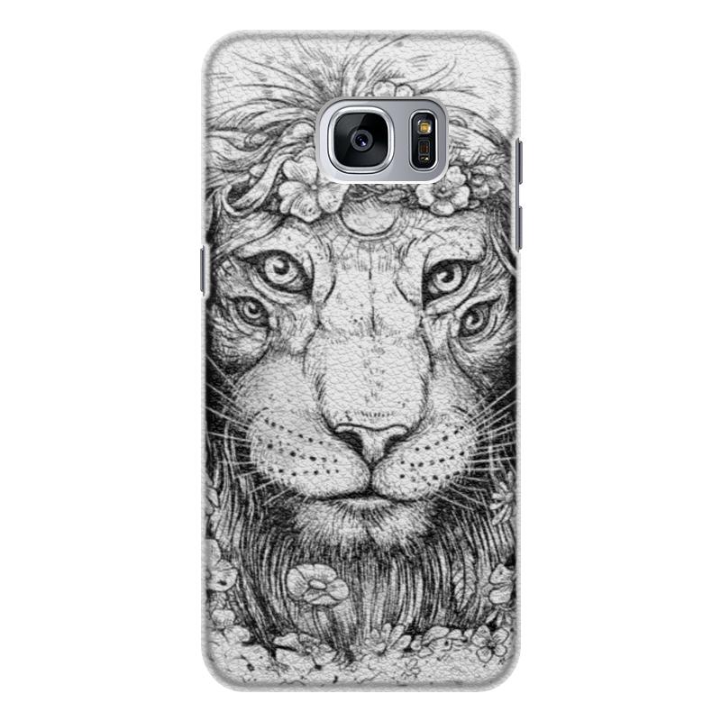 Printio Чехол для Samsung Galaxy S7 Edge, объёмная печать Царь природы