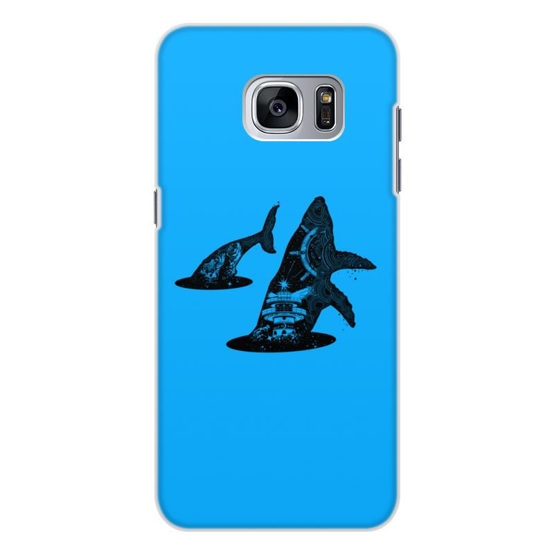 Printio Чехол для Samsung Galaxy S7 Edge, объёмная печать Кит и море