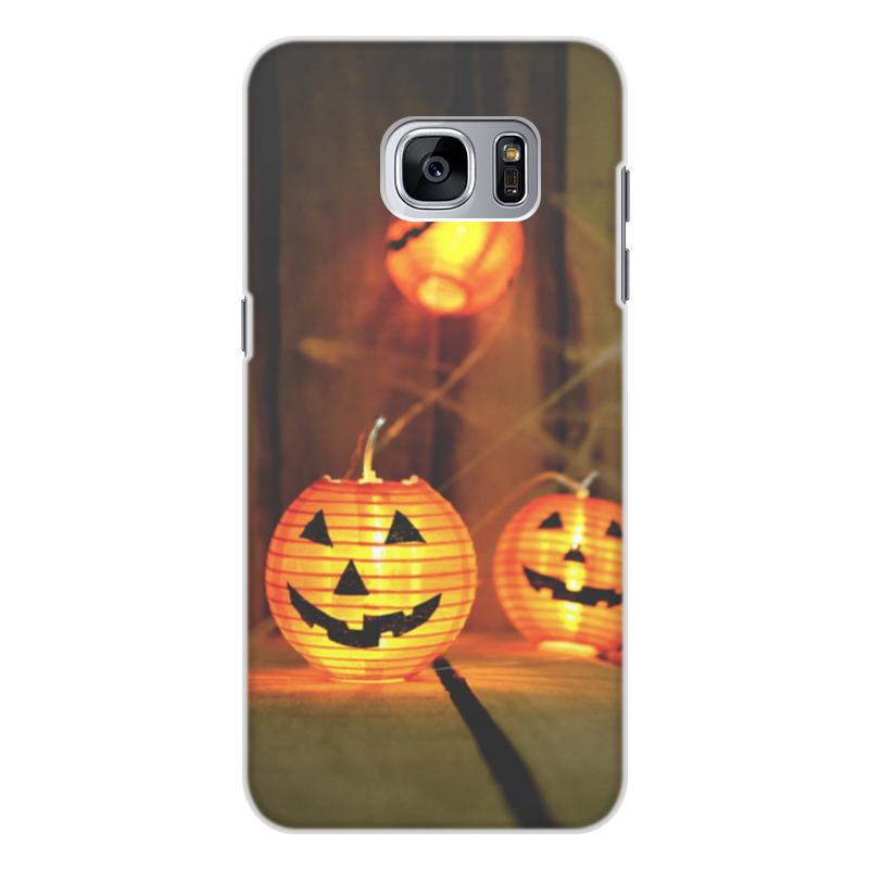 Printio Чехол для Samsung Galaxy S7 Edge, объёмная печать Хэллоуин
