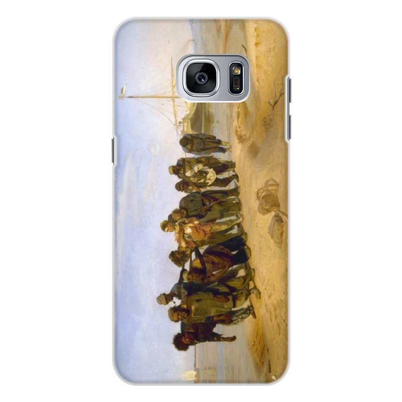 Printio Чехол для Samsung Galaxy S7 Edge, объёмная печать Бурлаки на волге (картина ильи репина)