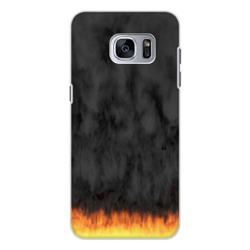 Printio Чехол для Samsung Galaxy S7 Edge, объёмная печать Пламя и дым printio чехол для samsung galaxy s8 plus объёмная печать пламя и дым