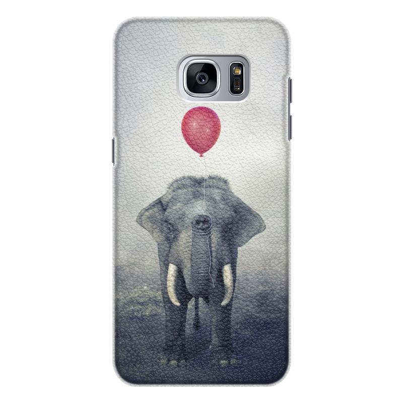Printio Чехол для Samsung Galaxy S7 Edge, объёмная печать Красный шар и слон
