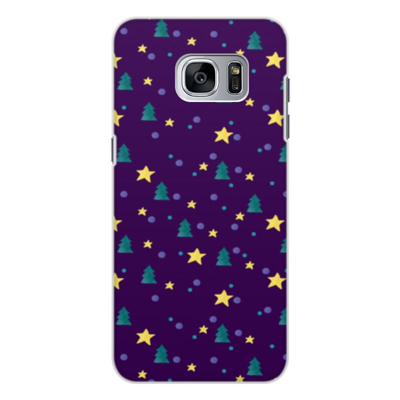 Printio Чехол для Samsung Galaxy S7 Edge, объёмная печать Елки и звезды