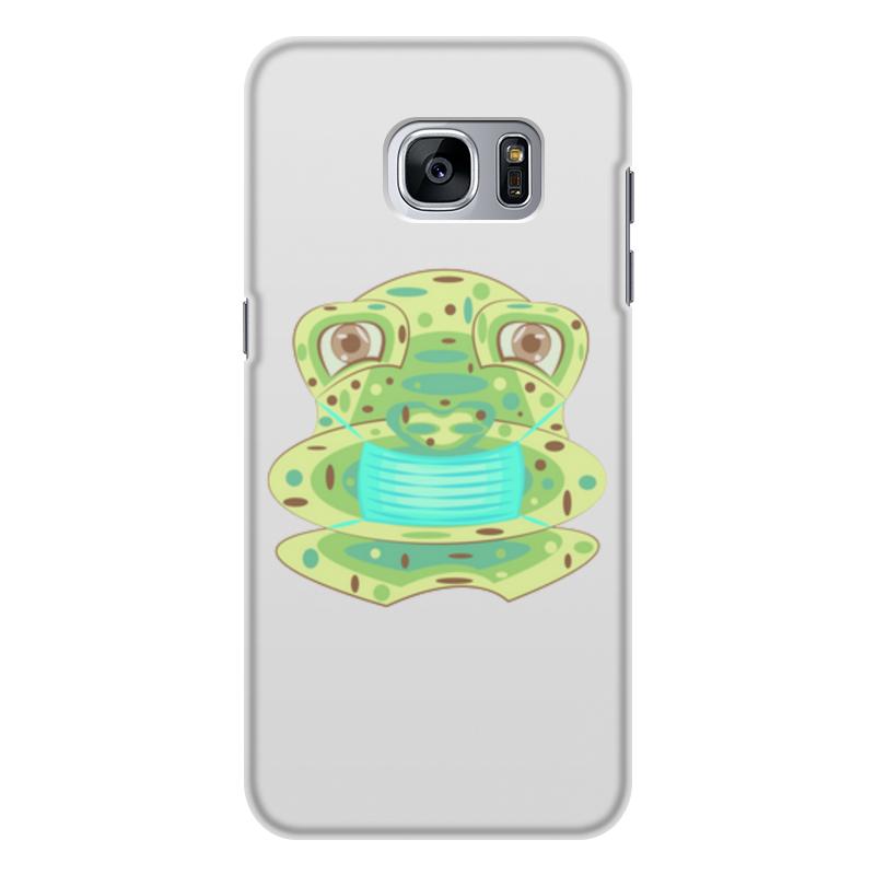 Printio Чехол для Samsung Galaxy S7 Edge, объёмная печать Жаба в маске