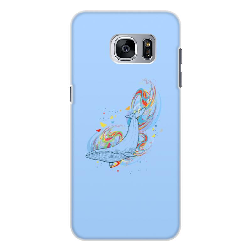 Printio Чехол для Samsung Galaxy S7 Edge, объёмная печать Кит и волны