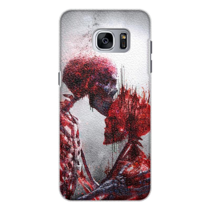 Printio Чехол для Samsung Galaxy S7 Edge, объёмная печать Последний поцелуй