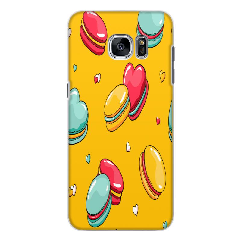 Printio Чехол для Samsung Galaxy S7 Edge, объёмная печать Печеньки.