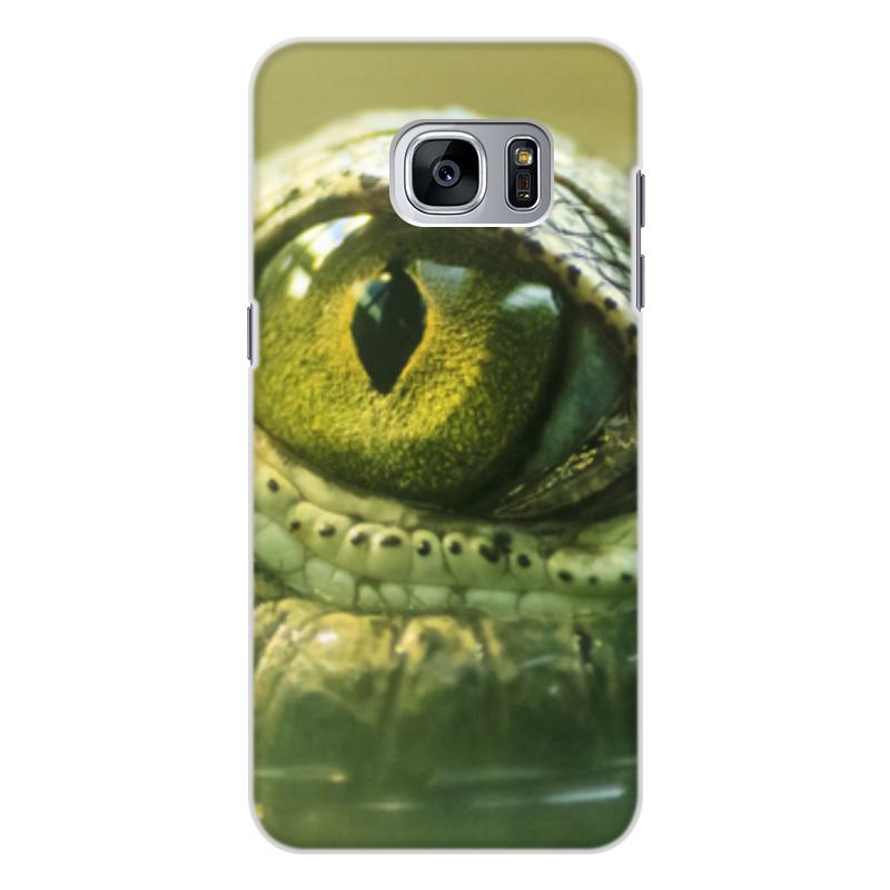 Printio Чехол для Samsung Galaxy S7 Edge, объёмная печать Рептилии