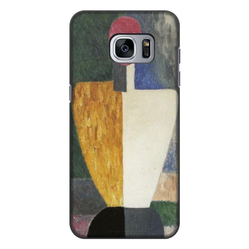чехол для iphone 8 объёмная печать printio торс фигура с розовым лицом малевич Printio Чехол для Samsung Galaxy S7 Edge, объёмная печать Торс (фигура с розовым лицом) (малевич)
