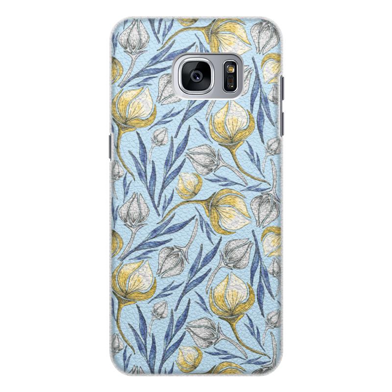 Printio Чехол для Samsung Galaxy S7 Edge, объёмная печать Цветы