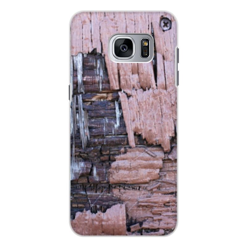 Printio Чехол для Samsung Galaxy S7 Edge, объёмная печать Деревянный