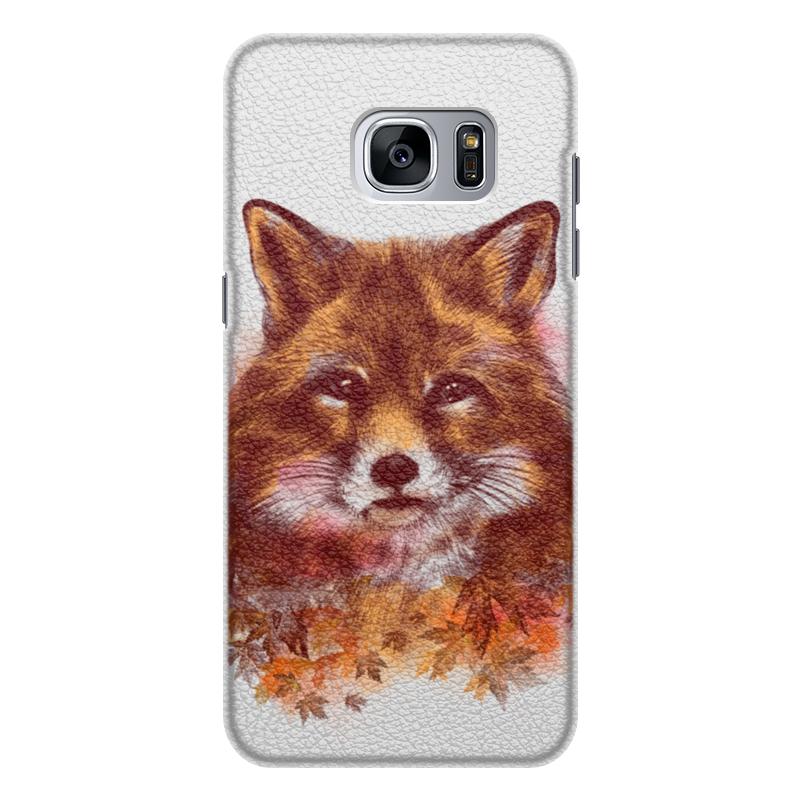 Printio Чехол для Samsung Galaxy S7 Edge, объёмная печать Осенняя лисица