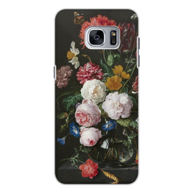 Printio Чехол для Samsung Galaxy S7 Edge, объёмная печать Цветочный букет в стеклянной вазе (ян де хем)