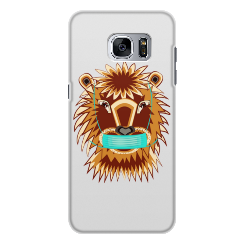 Printio Чехол для Samsung Galaxy S7 Edge, объёмная печать Лев в маске