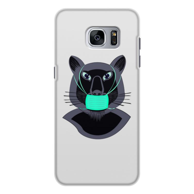 Printio Чехол для Samsung Galaxy S7 Edge, объёмная печать Пантера в маске