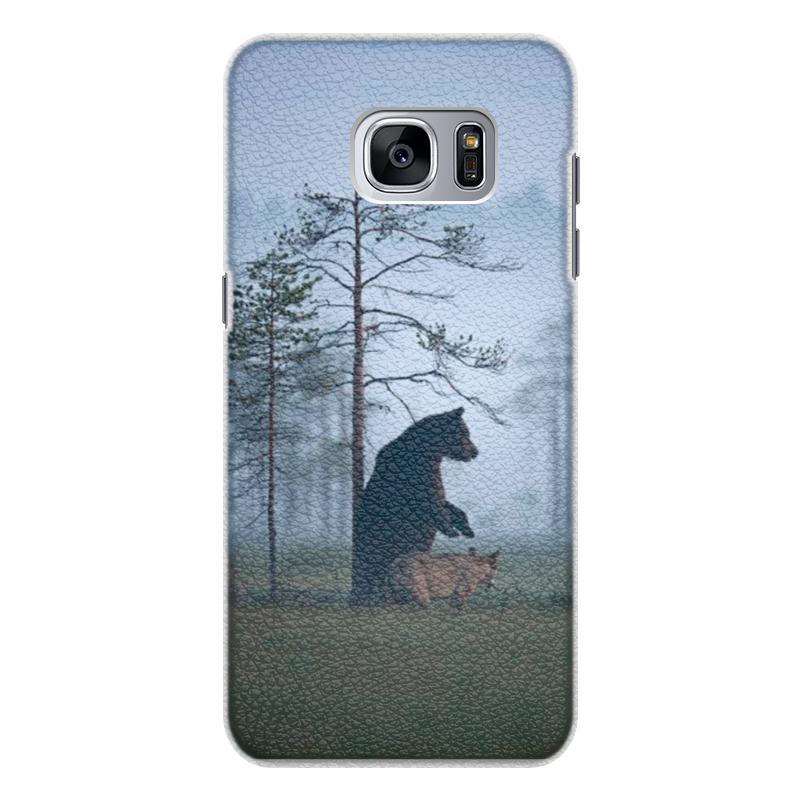 Printio Чехол для Samsung Galaxy S7 Edge, объёмная печать Мишка и волк