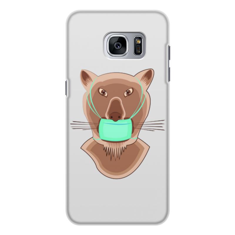 Printio Чехол для Samsung Galaxy S7 Edge, объёмная печать Львица в маске
