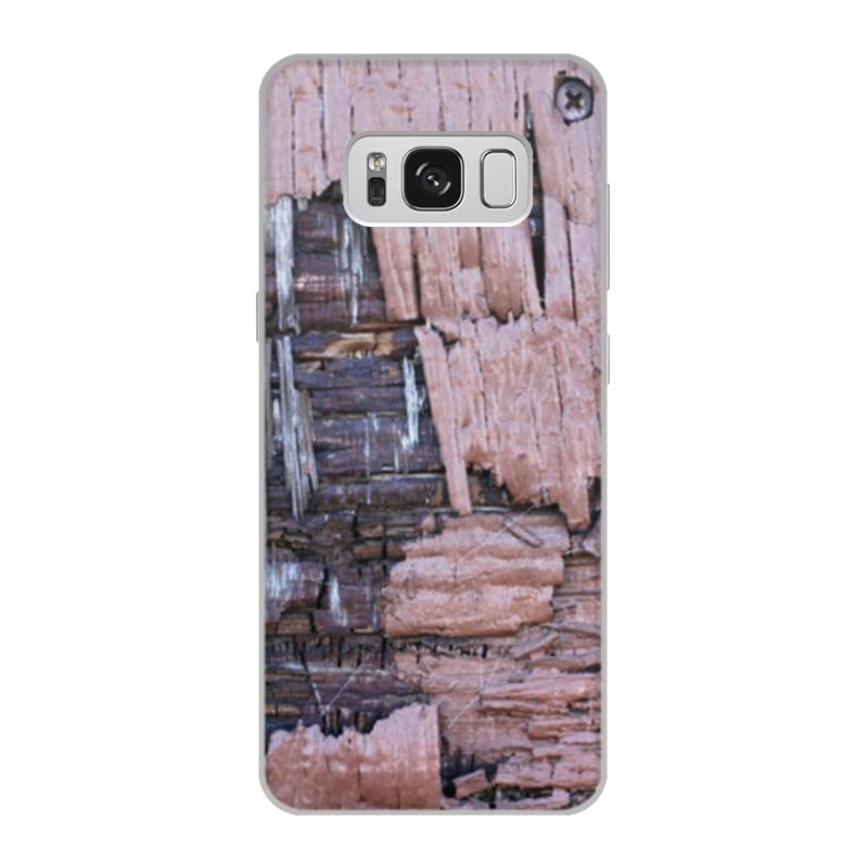 Printio Чехол для Samsung Galaxy S8, объёмная печать Деревянный