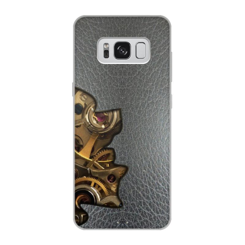 Printio Чехол для Samsung Galaxy S8, объёмная печать Внутренний мир телефона (шестеренки). printio чехол для samsung galaxy s8 объёмная печать одежда для телефона с волком