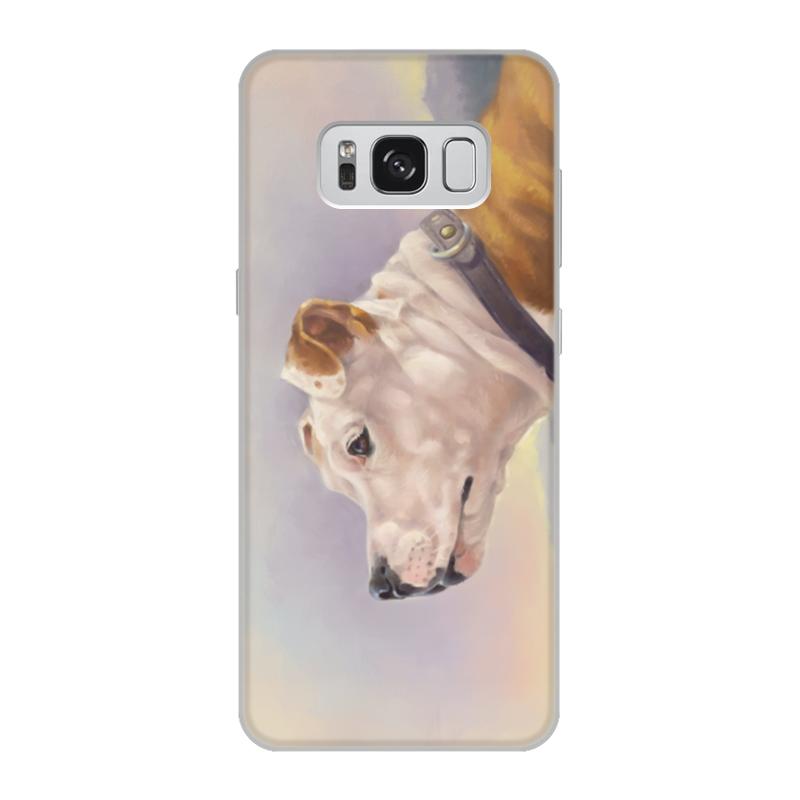 Printio Чехол для Samsung Galaxy S8, объёмная печать Портрет собаки стафф