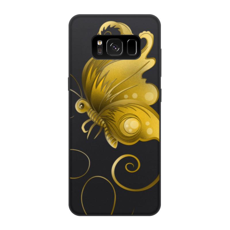 Printio Чехол для Samsung Galaxy S8, объёмная печать Золотая бабочка