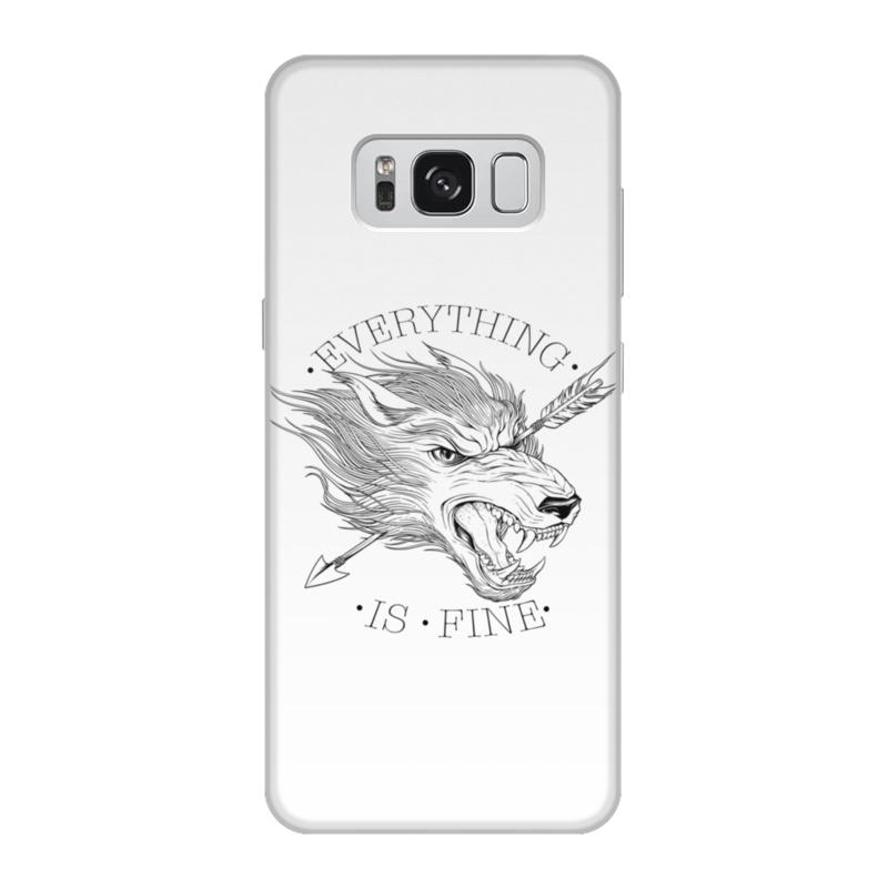 Printio Чехол для Samsung Galaxy S8, объёмная печать Все в порядке printio чехол для samsung galaxy s8 объёмная печать одежда для телефона с волком