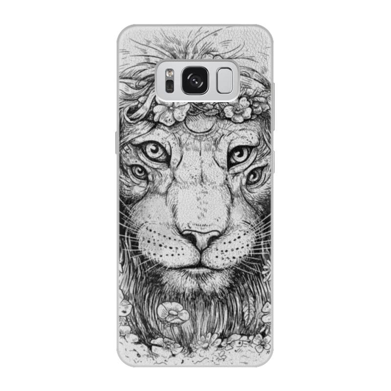 Printio Чехол для Samsung Galaxy S8, объёмная печать Царь природы