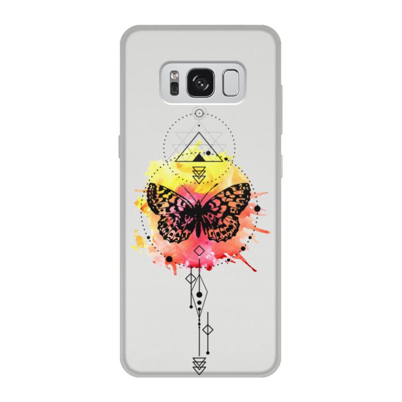 Printio Чехол для Samsung Galaxy S8, объёмная печать Чехол butterfly abstract geometry чехол