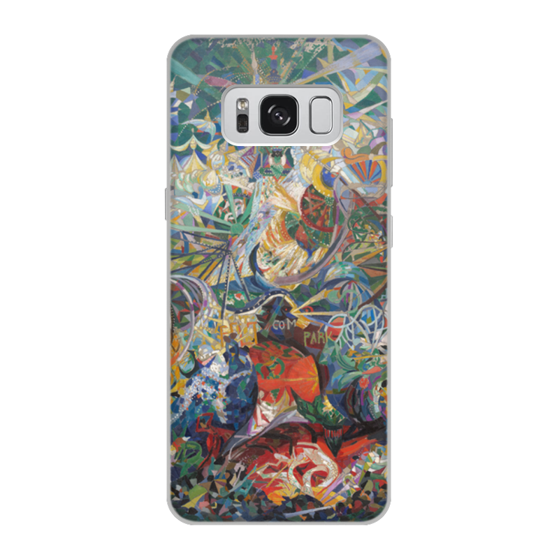 Printio Чехол для Samsung Galaxy S8, объёмная печать Битва огней, кони-айленд (джозеф стелла) printio свитшот женский с полной запечаткой битва огней кони айленд джозеф стелла