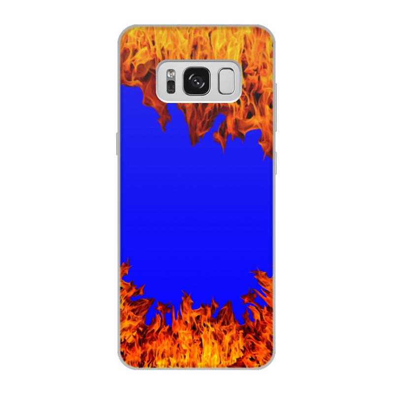 Printio Чехол для Samsung Galaxy S8, объёмная печать Пламя огня printio чехол для samsung galaxy s8 plus объёмная печать пламя и дым