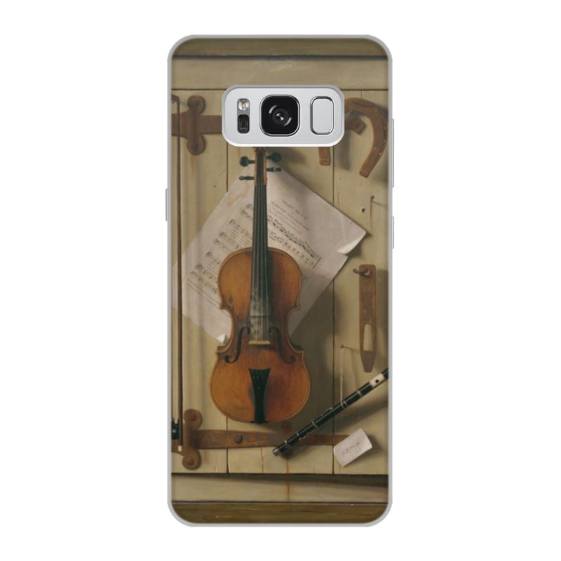 Printio Чехол для Samsung Galaxy S8, объёмная печать Натюрморт со скрипкой (уильям харнетт)