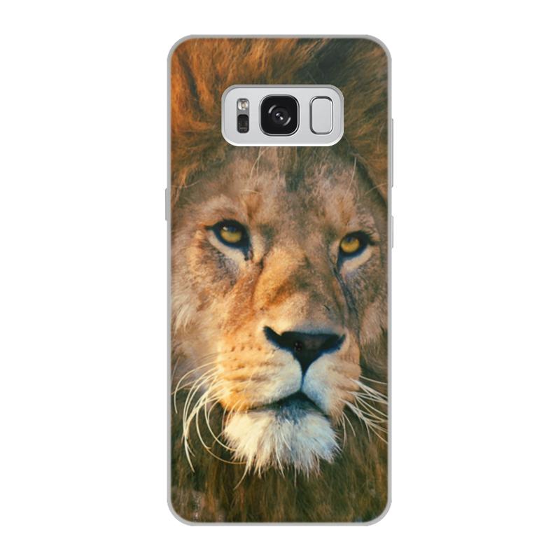 Printio Чехол для Samsung Galaxy S8, объёмная печать Морда льва